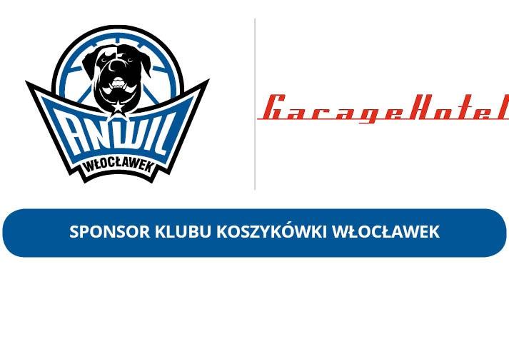 Garage Hotel nadal Sponsorem KK Włocławek S.A.