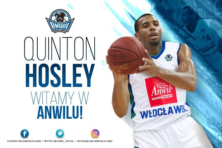 MVP we Włocławku - Quinton Hosley graczem Anwilu