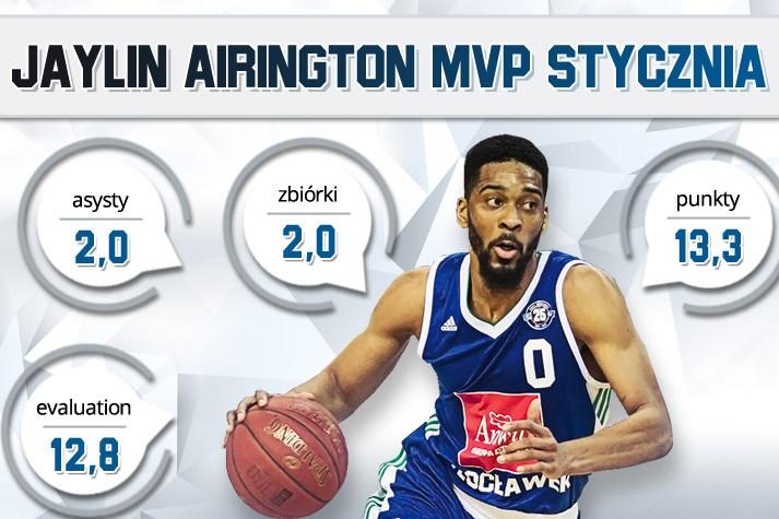 Jaylin Airington MVP Stycznia