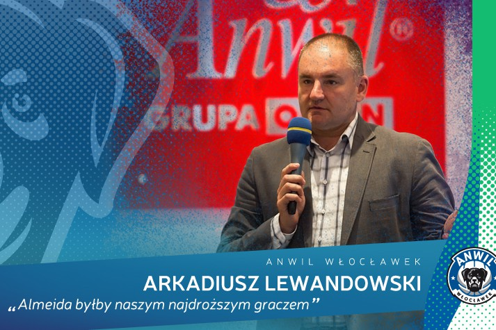 Arkadiusz Lewandowski: Almeida byłby naszym najdroższym graczem