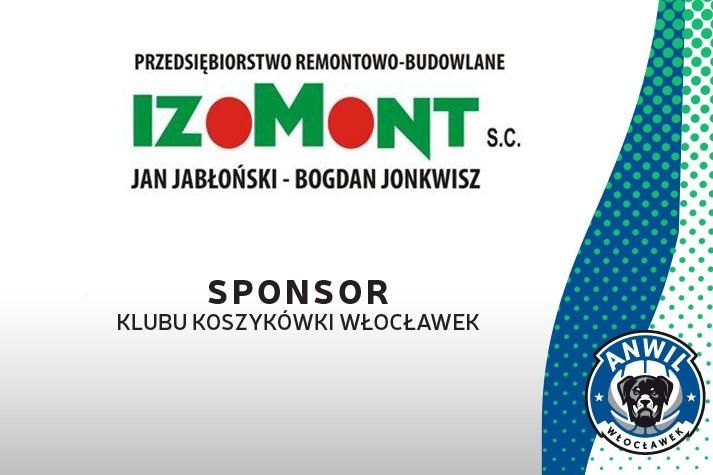 IZOMONT ponownie Sponsorem KK Włocławek