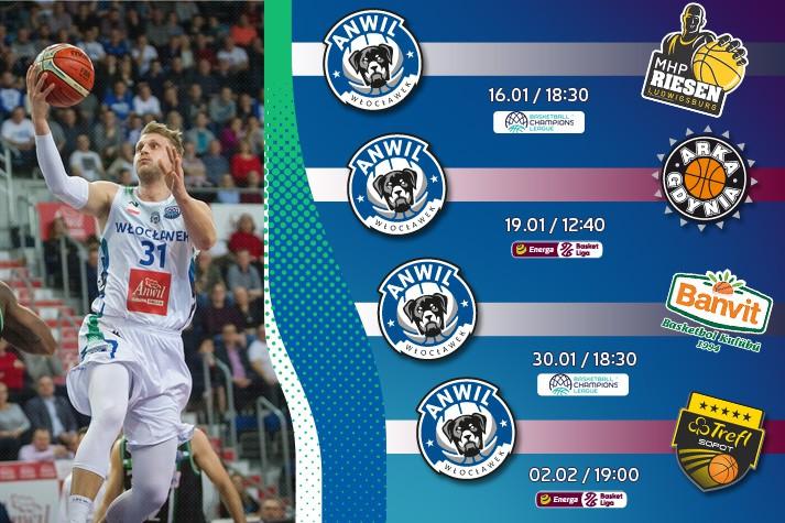 Bilety do kupienia: MHP Riesen, Arka, Banvit i Trefl