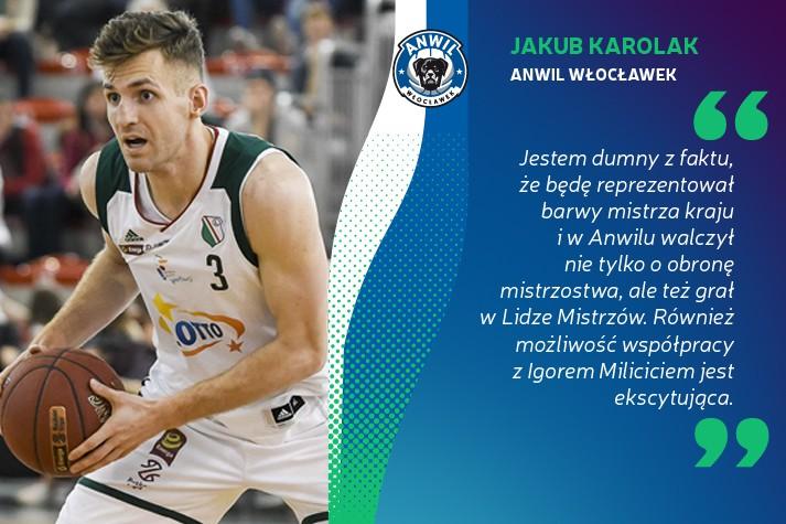 Jakub Karolak: Jestem dumny, że będę grał w Anwilu