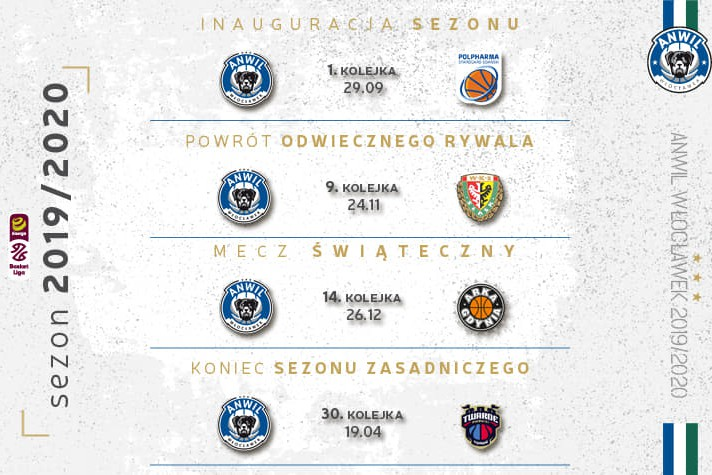 Terminarz Energa Basket Ligi sezonu 2019/2020
