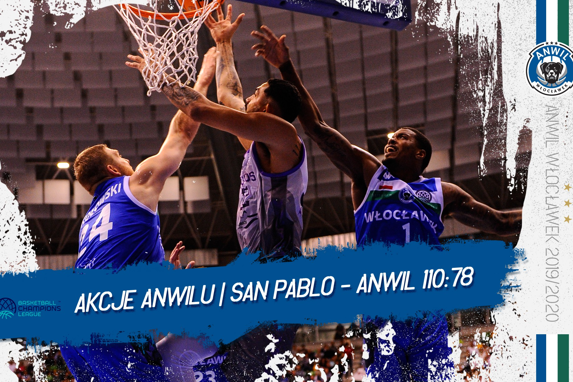 Akcje Anwilu | San Pablo Burgos - Anwil Włocławek 110:78