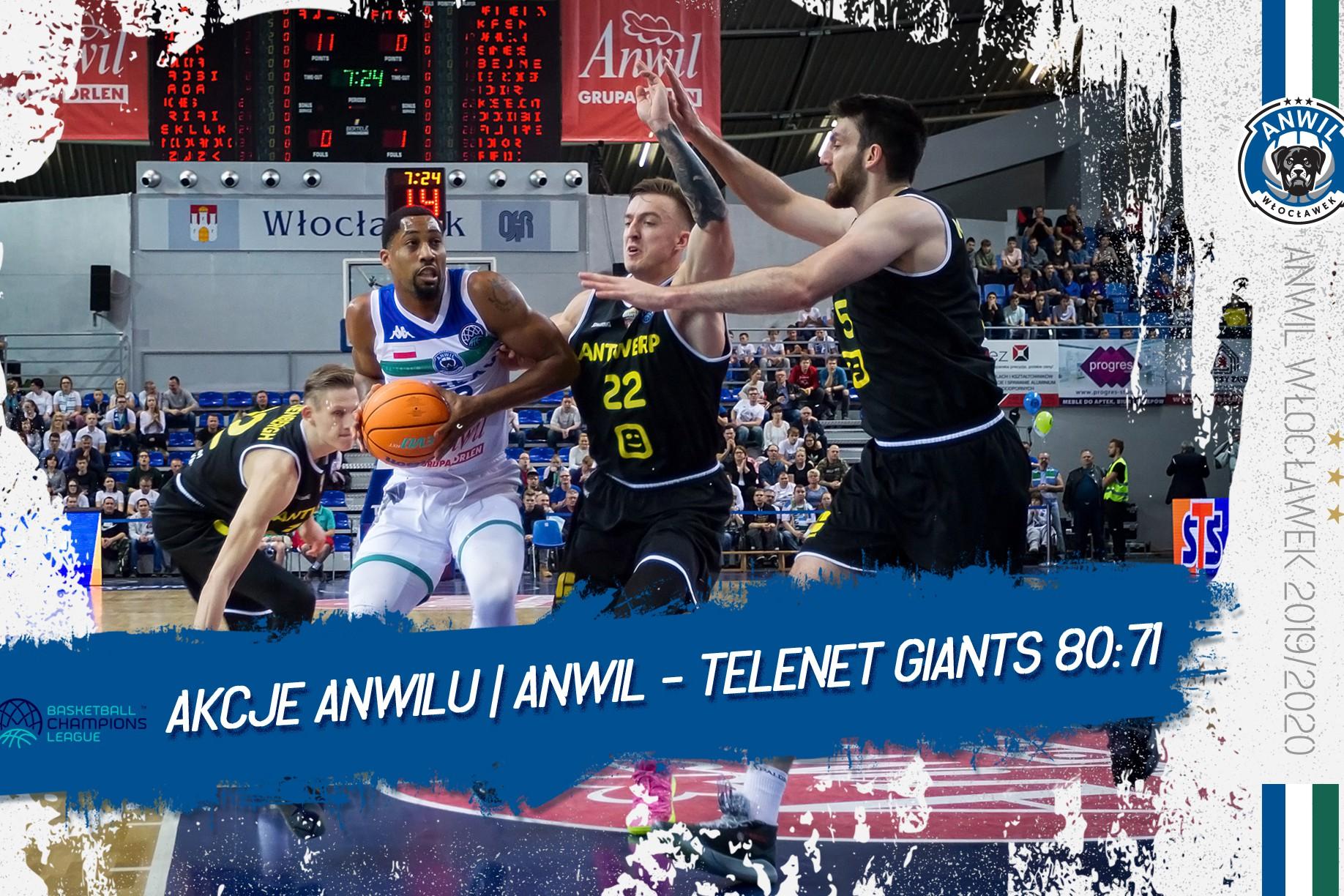 Wideo | Anwil Włocławek - Telenet Giants Antwerpia 80:71