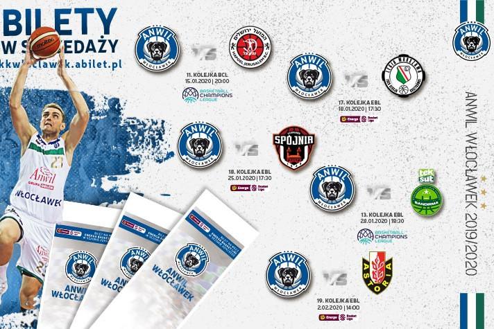 Bilety do kupienia: Hapoel, Legia, PGE Spójnia, Teksüt i Enea Astoria