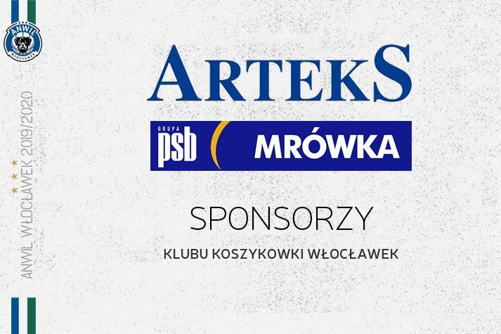 Arteks i PSB Mrówka sponsorami KK Włocławek