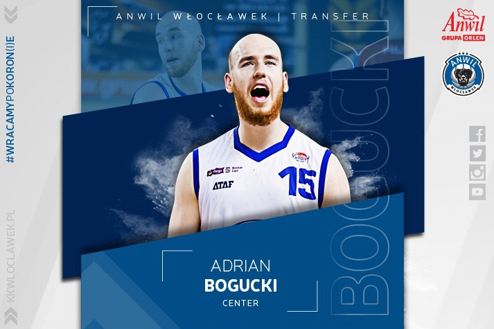 Gigantyczny talent – Adrian Bogucki graczem Anwilu