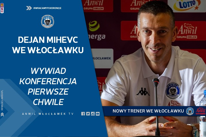 Wideo | Wywiad, konferencja i pierwsze chwile Dejana Mihevca we Włocławku