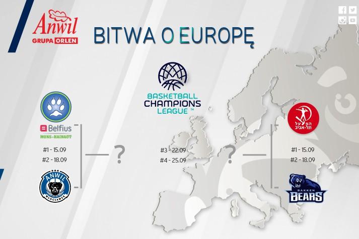 Eliminacje BCL rozlosowane - na początek Belgowie
