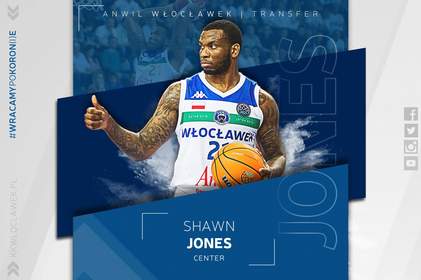 Monster is back – Shawn Jones znowu w Anwilu!