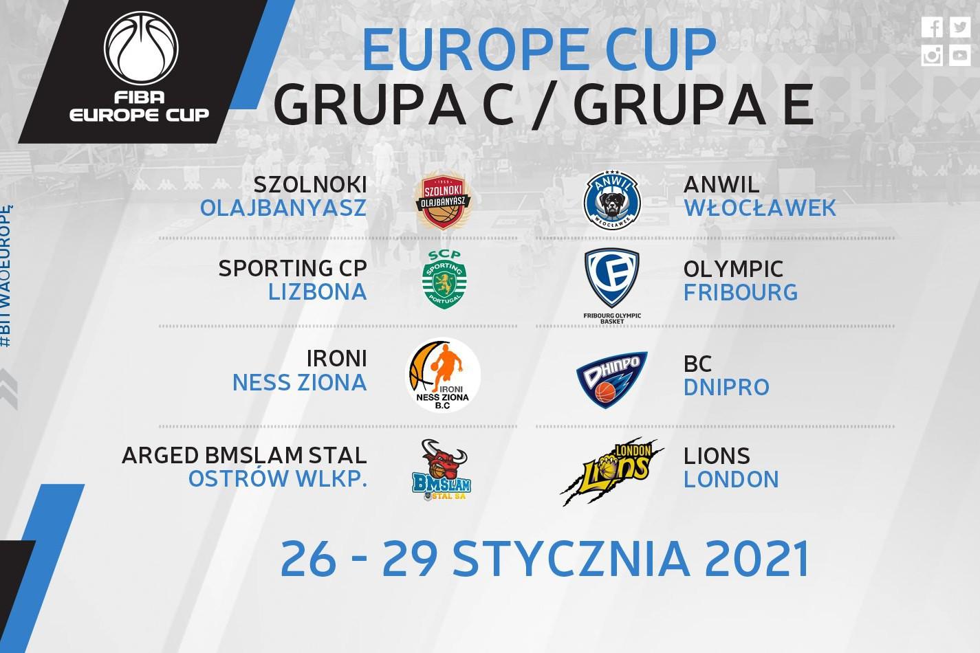 Terminarz bańki FIBA Europe Cup