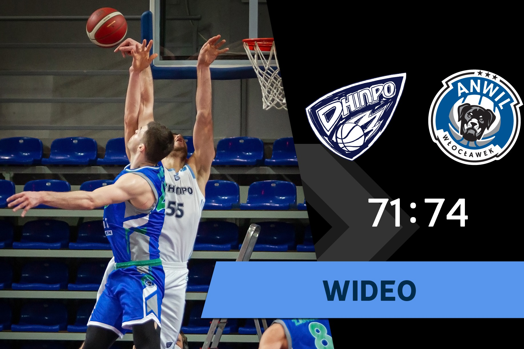 Wideo | BC Dnipro - Anwil Włocławek 71:74