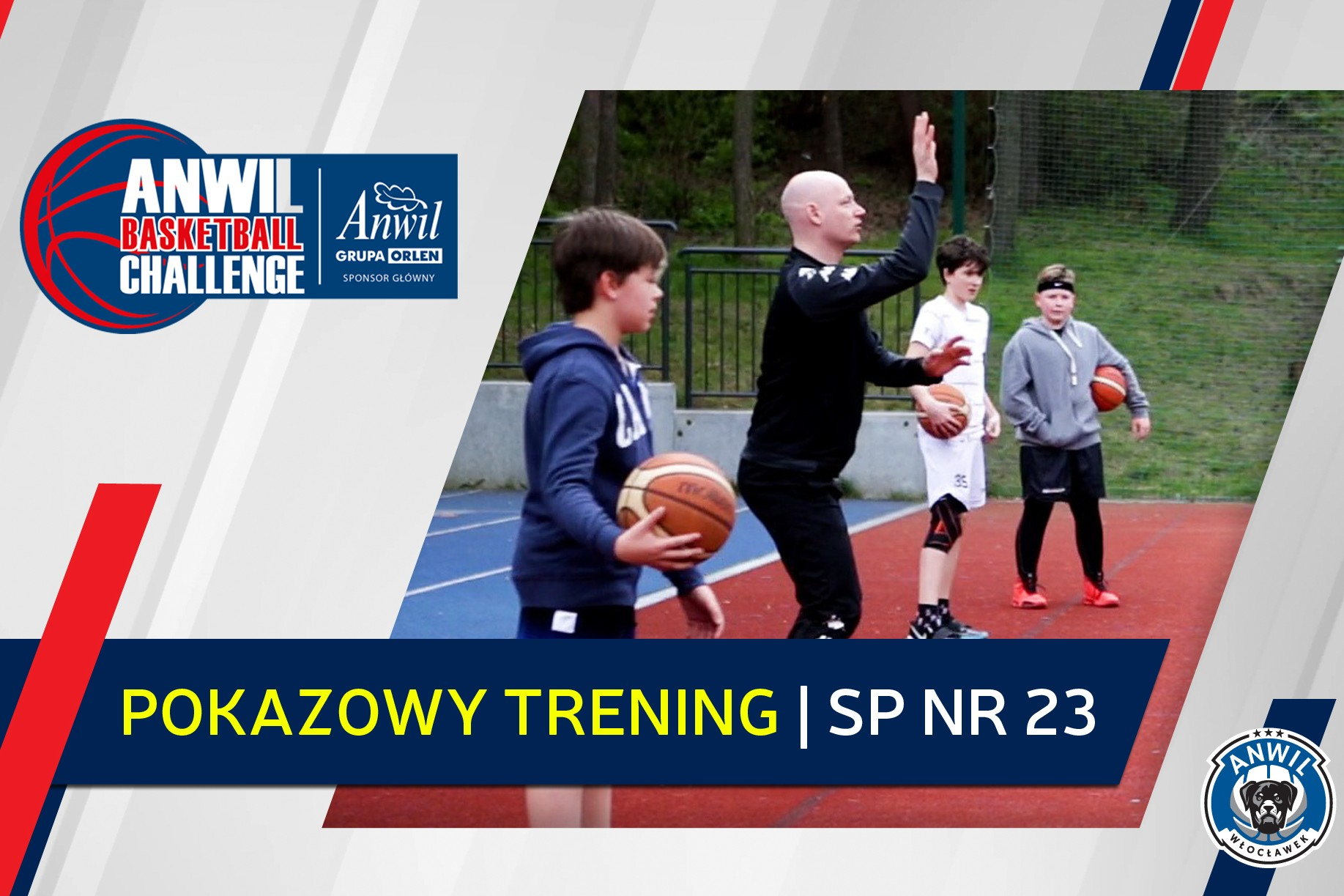 Wideo | Anwil Basketball Challenge | Trening w SP nr 23