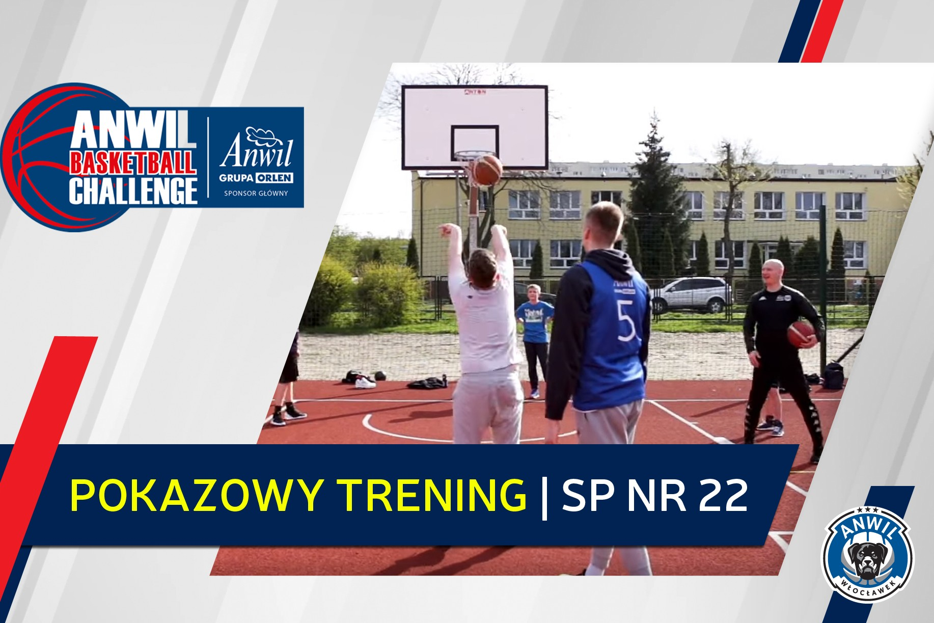 Wideo | Anwil Basketball Challenge | Trening w SP nr 22